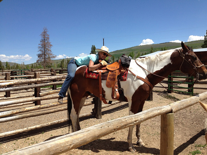Horse back ride at a ranch